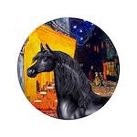 "Cafe/Arabian horse (blk) 3.5"" Button (100 pac"