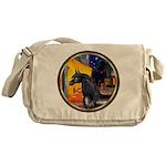 Cafe/Arabian horse (blk) Messenger Bag