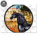 Garden/Arabian horse (blk) Puzzle