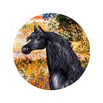 """Garden/Arabian horse (blk) 3.5"""" Button (100 p"""