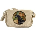 Venus/Arabian horse (blk) Messenger Bag