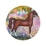 "Garden/Arabian horse (brn) 3.5"" Button (100 p"