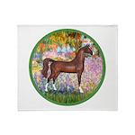 Garden/Arabian horse (brn) Throw Blanket