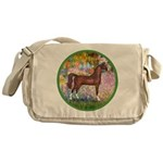 Garden/Arabian horse (brn) Messenger Bag