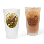Palms/Arabian horse (w) Drinking Glass
