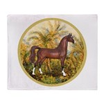 Palms/Arabian horse (w) Throw Blanket