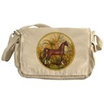 Palms/Arabian horse (w) Messenger Bag