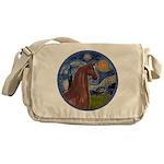 Starry/Arabian Horse (brn) Messenger Bag