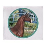 Bridge/Arabian horse (brn) Throw Blanket