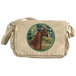 Bridge/Arabian horse (brn) Messenger Bag