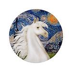 "Starry/Arabian Horse (w) 3.5"" Button (100 pac"