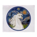 Starry/Arabian Horse (w) Throw Blanket