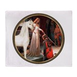 Accolade/Arabian Horse (w) Throw Blanket