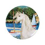 """Sailboats/Arabian Horse (w) 3.5"""" Button (100"""