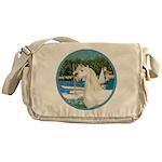 Sailboats/Arabian Horse (w) Messenger Bag