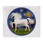 Starry / Arabian Horse (W1) Throw Blanket