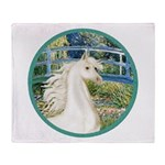 Bridge/Arabian horse (w) Throw Blanket