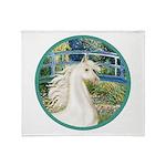 Bridge/Arabian horse (w) Throw Blanket