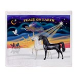 XmsSunrs/2 Horses (Ar) Throw Blanket