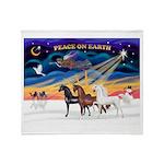 XmsSunrs/3 Horses (Ar) Throw Blanket