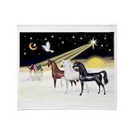 XmsDove/3 Horses (Ar) Throw Blanket