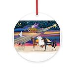 XmsStar/3 Horses (Ar) Ornament (Round)