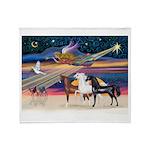 XmsStar/3 Horses (Ar) Throw Blanket
