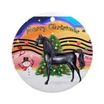 XmsMusic2/Horse (Ar-blk) Ornament (Round)