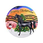 """XmsMusic2/Horse (Ar-blk) 3.5"""" Button (100 pac"""