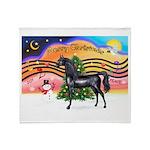 XmsMusic2/Horse (Ar-blk) Throw Blanket