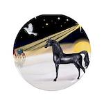 """XmasDove/Horse (Ar-blk) 3.5"""" Button (100 pack"""