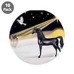 """XmasDove/Horse (Ar-blk) 3.5"""" Button (10 pack)"""