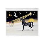 XmasDove/Horse (Ar-blk) Throw Blanket