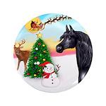 "Take Off1/ Horse (Ar-blk ) 3.5"" Button (100 p"