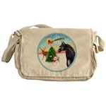 Take Off1/ Horse (Ar-blk ) Messenger Bag