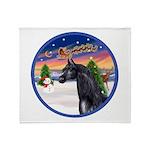 TakeOff2/Horse (Ar-blk) Throw Blanket