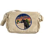 TakeOff2/Horse (Ar-blk) Messenger Bag