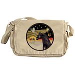 XmasDove/Horse (Ar-blk) Messenger Bag