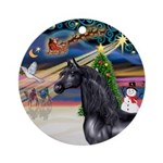 XmsMagicy/Horse (Ar-blk) Ornament (Round)