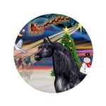 """XmsMagicy/Horse (Ar-blk) 3.5"""" Button (100 pac"""