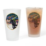 XmsMagicy/Horse (Ar-blk) Drinking Glass