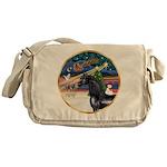 XmsMagicy/Horse (Ar-blk) Messenger Bag