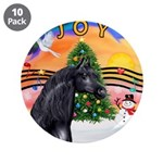 """XmsMusic2/Horse (Ar-blk) 3.5"""" Button (10 pack"""