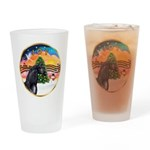 XmsMusic2/Horse (Ar-blk) Drinking Glass