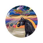 "Xmas Star / Arabian Horse (bl 3.5"" Button (10"