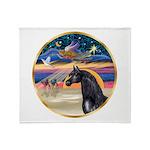 Xmas Star / Arabian Horse (bl Throw Blanket