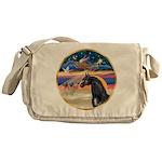 Xmas Star / Arabian Horse (bl Messenger Bag