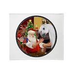 Santa/Horse (Ar-W) Throw Blanket