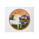 XmsFntsy/Horse (Ar-W) Throw Blanket