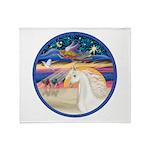 XmsStr/Horse (W2) Throw Blanket